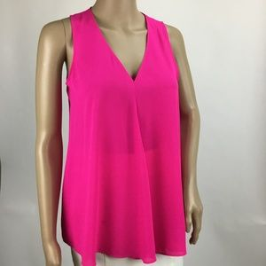 Vince Camuto Sleeveless Blouse Electric Pink XS